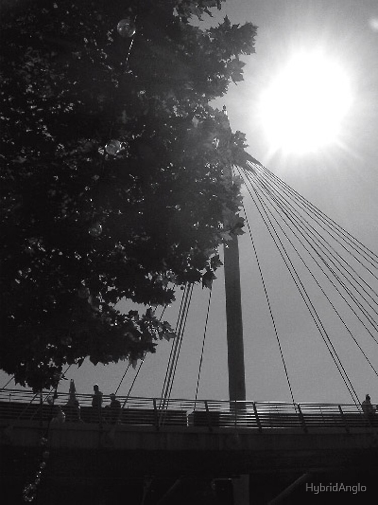 Hammersmith Bridge in Sunlight BW by HybridAnglo