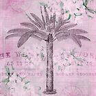 Pink Pastel Retro Traveling Art by artsandsoul