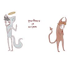 """""""partners in crime"""" weird cats by wade-ebooks"""