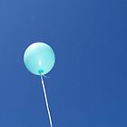 blue balloon by Alexandra Strömgren
