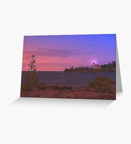 Superior Lighthouse. Greeting Card