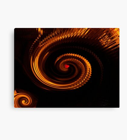 Love in a Whirlwind Abstract Canvas Print