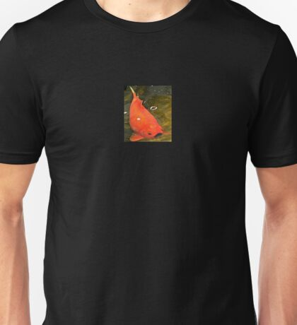 Gold Fish With Mustache Unisex T-Shirt