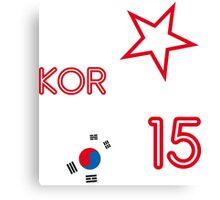 SOUTH KOREA STAR Canvas Print