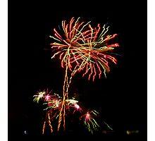 Neon Dandelion Photographic Print