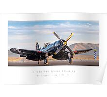 "F4U Corsair ""Korean War Hero"" Poster"