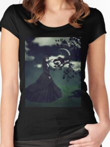 Woman in black 3 Women's Fitted Scoop T-Shirt