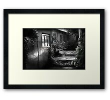 Softening the edges of decay Framed Print