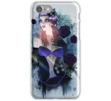 Abstract background with gothic girl iPhone Case/Skin