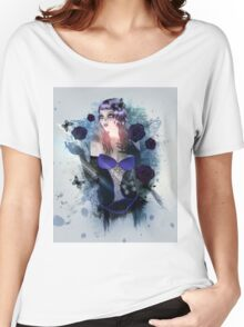 Abstract background with gothic girl Women's Relaxed Fit T-Shirt