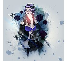 Abstract background with gothic girl 3 Photographic Print