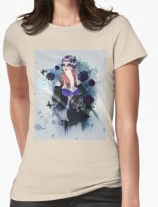 Abstract background with gothic girl 3 Womens Fitted T-Shirt
