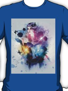 Abstract background with gothic girl 2 T-Shirt
