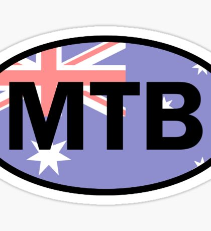 Mountain Biking Australia Flag Sticker