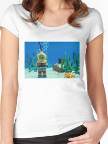 Lego Deep Sea Diver Women's Fitted Scoop T-Shirt