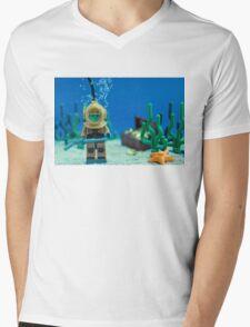 Lego Deep Sea Diver Mens V-Neck T-Shirt