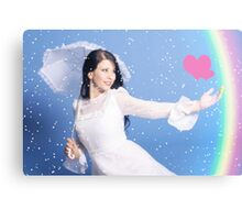Happy bride Canvas Print