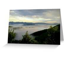 sea of clouds..... Greeting Card