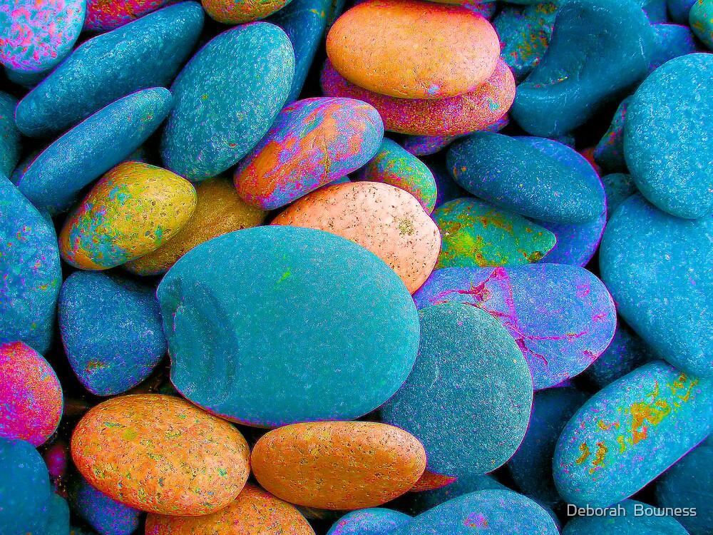 Neon Pebbles by Deborah  Bowness