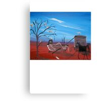 Ned Kelly   Im first   BATH TIME RUSH Canvas Print