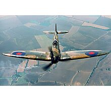 BBMF Spitfire IIa P7350 over South Lincolnshire Photographic Print