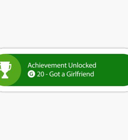 Achievement Unlocked - 20G Got a Girlfriend Sticker