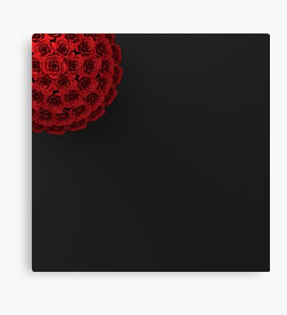 ROSES ON PLAIN BLACK BACKGROUND Canvas Print