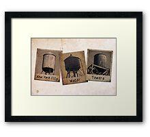 New York Water Tower Polaroids Framed Print