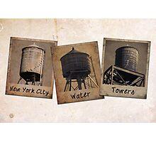 New York Water Tower Polaroids Photographic Print