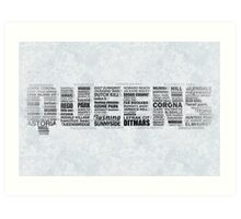 Queens New York Typography Text Art Print