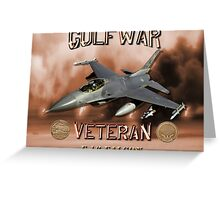 F-16 Falcon Gulf War Veteran Greeting Card