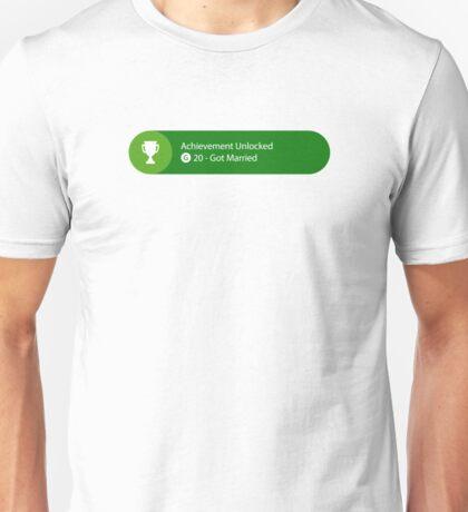 Achievement Unlocked - 20G Got Married Unisex T-Shirt