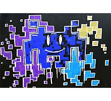 Negative smiley space invaders  Photographic Print