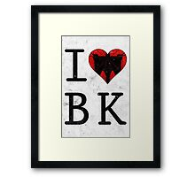 I Love Brooklyn BK, NY Framed Print