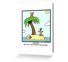 Stuck up a Tree Greeting Card