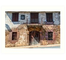 Mansion in Navarre village Art Print