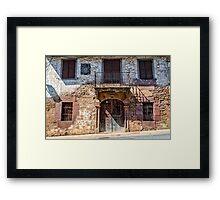 Mansion in Navarre village Framed Print