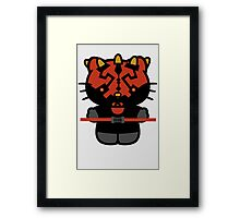 Darth Kitty Darth Maul Hello KItty Framed Print