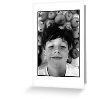 Barry and the Cooking Apples Greeting Card