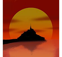 Settlers of Saint Mont Michel Photographic Print