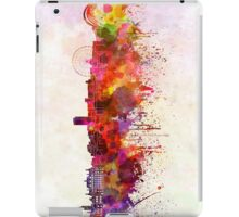 Sheffield skyline in watercolor background iPad Case/Skin
