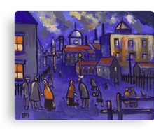 Matchstick men (from my original painting) Canvas Print