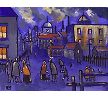 Matchstick men (from my original painting) Photographic Print