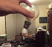 This man with a lightbulb for a head. by Grigori Rasputin