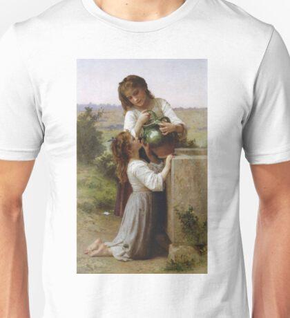 Adolphe William Bouguereau - A La Fontaine Unisex T-Shirt