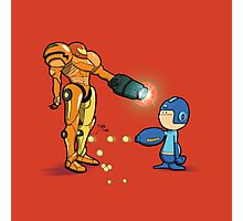 Samus Vs Mega Photographic Print