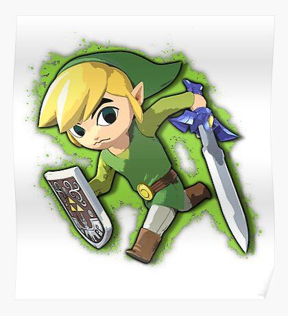 Toon Link - Super Smash Bros. Poster