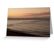 Scarborough Sunset Greeting Card
