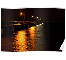 Woody Point Pier at Night Poster