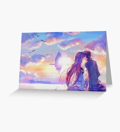 Sword Art Online Asuna e Kirito Poster, Cover ecc. Greeting Card